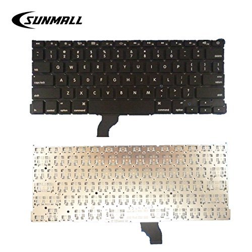 SUNMALL Replacement Keyboard Without Backlit and Frame Compatible with Apple MacBook Pro A1502 13 2013-2015 Retina Series Black US Layout, Compatible with Part Numbers ME864 ME865 ME866