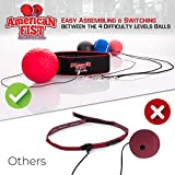 Boxing Reflex Ball Set, 4 Difficulty Level Training Balls On String, Punching Fight React Head Ball with Headband, Speed Hand Eye Reaction and Coordination Boxing Equipment For Kids And Adults