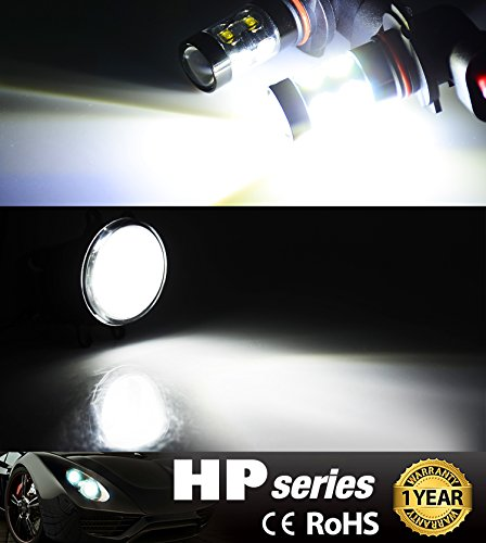 JDM ASTAR Extremely Bright Max 50W High Power H10 9145 LED Fog Light Bulbs For DRL Or Fog Lights Xenon White