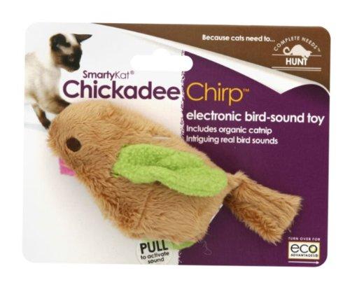 SmartyKat ChickadeeChirp Electronic Bird-Sound Cat Toy, My Pet Supplies