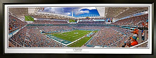 Miami Dolphins Hard Rock Stadium Panoramic (Framed)