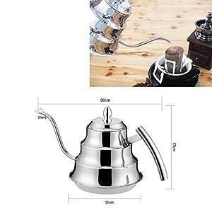 GohEun 1.2 Liter Stainless Steel Teapot Tea Coffee Pots Long Narrow Spout Kettle