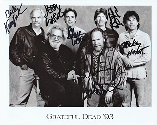 THE GRATEFUL DEAD WITH JERRY GARCIA 8 by 10 PHOTO AUTOGRAPH DISPLAY...WE SHIP THE DAY OF PAYMENT