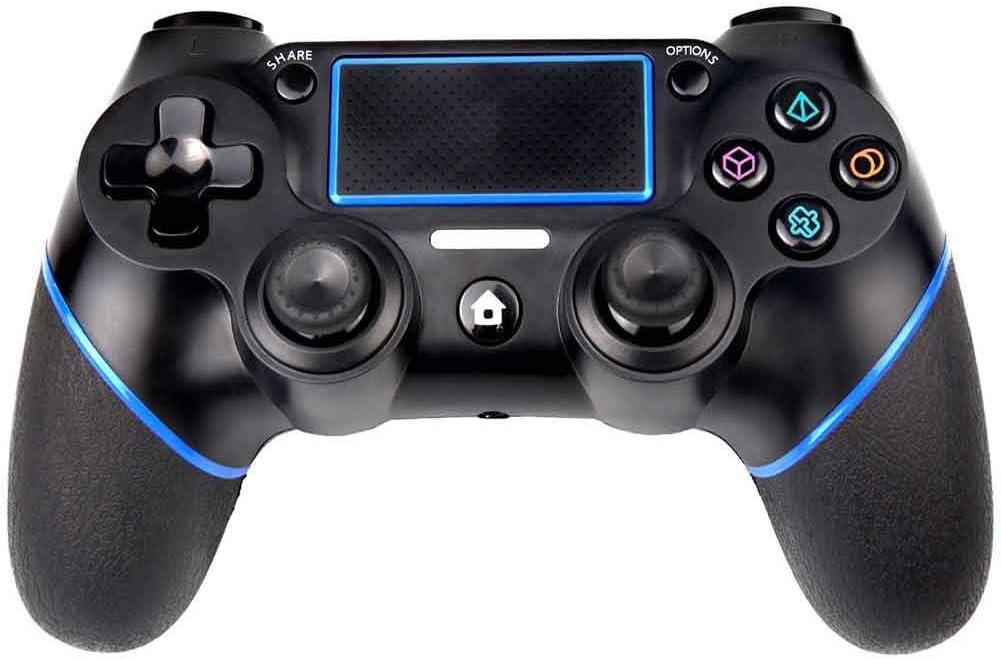 YT controlador inalámbrico para PS4 Bluetooth Gamepad, panel táctil joypad con doble vibración juego control remoto para joystick