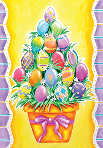 - Toland Home Garden Egg Stack 28 x 40 Inch Decorative Colorful Easter Basket House Flag