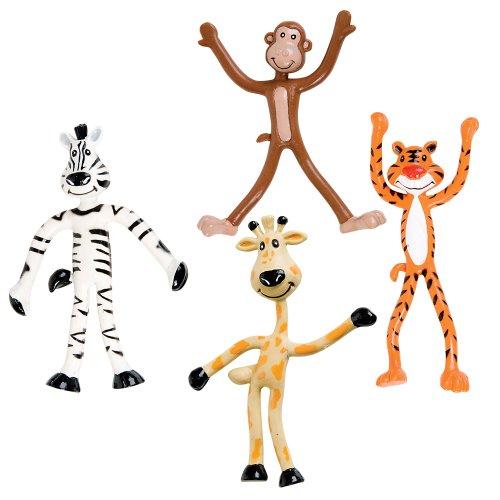 Dozen Fun Toys Bendable Animals