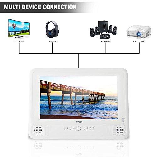 Pyle 10.1'' Portable DVD Player IP67 Waterproof  Car Headrest Backseat Mobile Marine  with Ultra-thin TFT HD Screen USB/SD Readers   Headphone Jack (PLMRDV104) by Pyle (Image #4)