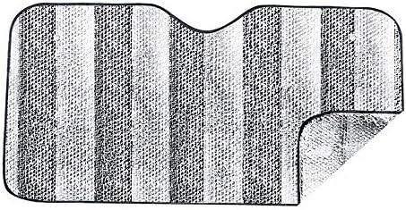 Mtef 車用 フロントサンシェード UVカット 断熱 ブロックシェード 130x60cm シルバー 3つのパック