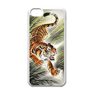 The king of beasts Tiger Hard Plastic phone Case Cover+Free keys stand For Iphone 5c ZDI041165