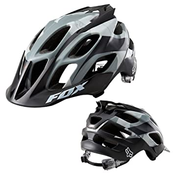 Fox Flux MTB - Casco, color negro mate, color - Snow Camo, tamaño