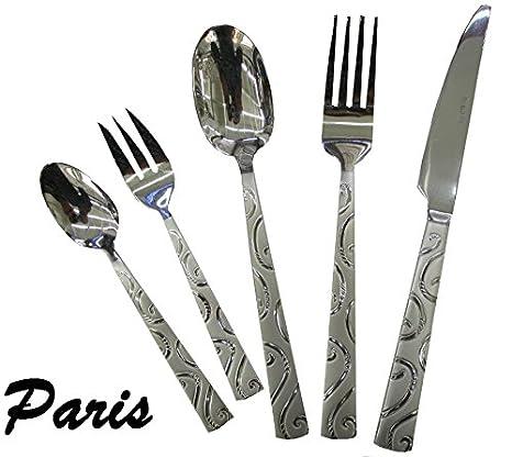 Cubiertos Set, 72 Piezas, para 12 personas en maletín, acero inoxidable Karaca Paris: Amazon.es: Hogar