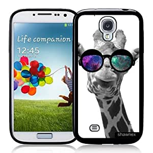 Cool Painting Galaxy S4 Case - S IV Case - Shawnex Giraffe Geek Space Hipster Galaxy Samsung Galaxy i9500 Case Snap On Case