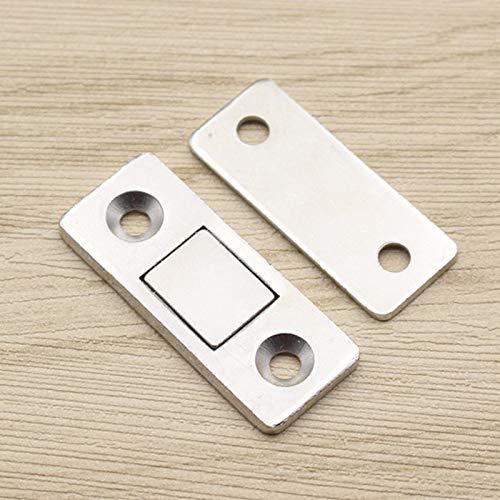armarios y Cristales 2 pestillos magn/éticos ultrafinos para Puertas de Muebles Poitwo