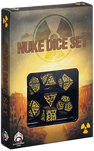 Q Workshop Nuke Revised Black & Yellow Dice Set (7)