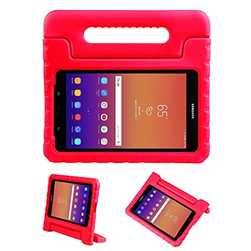 (FunCase Samsung Galaxy Tab A 8.0 Kiddie Case-Shock Proof Light Weight Convertible Handle Stand Cover for Samsung Galaxy Tab A 8.0 Inch 2017 Tablet (SM - T380 / T385) Blue (Red) )