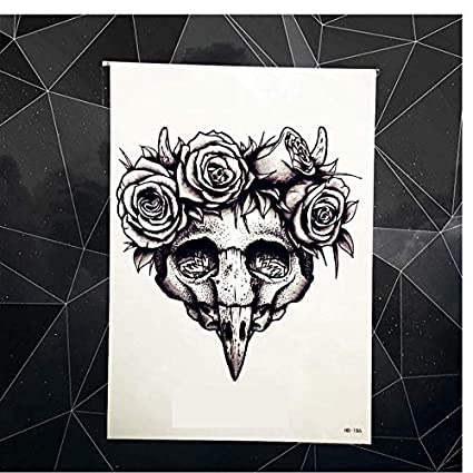 ruofengpuzi Adesivo tatuaggioBelleza De Madera P Cabeza Tatuaje ...