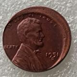 Lincoln One Cent 1951D Error with An Off Center Error Rare Copy Coins