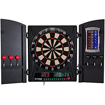 Bullshooter Cricket Maxx 1.0 Electronic Dartboard Cabinet Set with 13.5u201d Target Area Wooden Cabinet  sc 1 st  Amazon.com : electronic dartboard in cabinet - Cheerinfomania.Com
