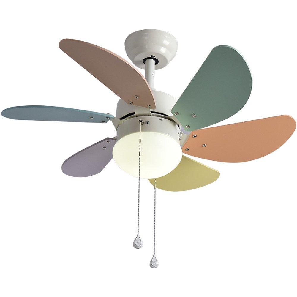 Unbekannt Creative Fan Chandelier - Kinderzimmer-Kronleuchter/Creative Restaurant-Wohnzimmer-Fan-Kronleuchter LED-Fan-Licht