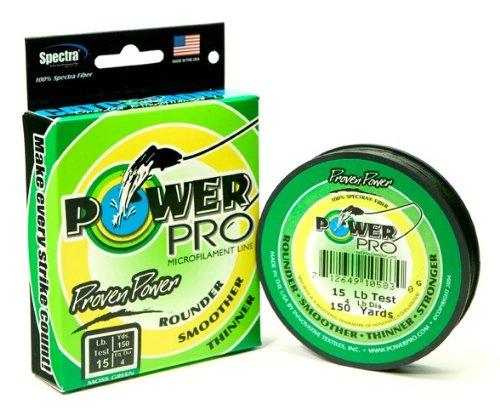 Power Pro 20 -Pounds – 150 yard (Moss green), Outdoor Stuffs
