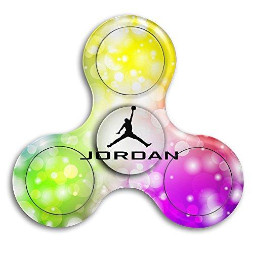 Jordan Noted Baskrtball Palyer Fidgets Fingertip Machine Gyro Hand Spinner Hand Tri-Spinner Stress Bearing Toy 2 Instant Spin