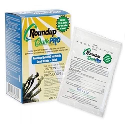 Roundup QuikPro Weed Killer HERBICIDE 73.3% QuickPro 1 Packet per Gallon 10 pack