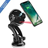 Wireless car Charger – qi car Charger Mount – one-Touch Automatic Wireless Charger Phone Holder – qi air Vent Phone Mount for iPhone X 8 8 Plus Samsung S9 S9 Plus S8 S8 Plus note8 Qi-Enabled Devices