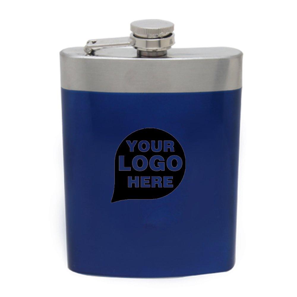 8オンスステンレス鋼フラスコ – 12数量 – $ 14.15各 – プロモーション製品/バルク/ブランドロゴ/でカスタマイズされた ブルー CP-CPC85095-2 B076MTHJD2 ブルー