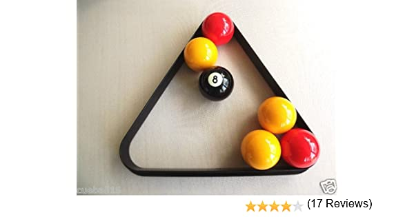 Homegames Pub Pool Table Ball Triangle UK 2 Inch Billiard Size by ...