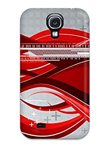 Premium [wiwlryL11386HzDPJ]futuristic Red Abstract Art Case For Galaxy S4- Eco-friendly Packaging
