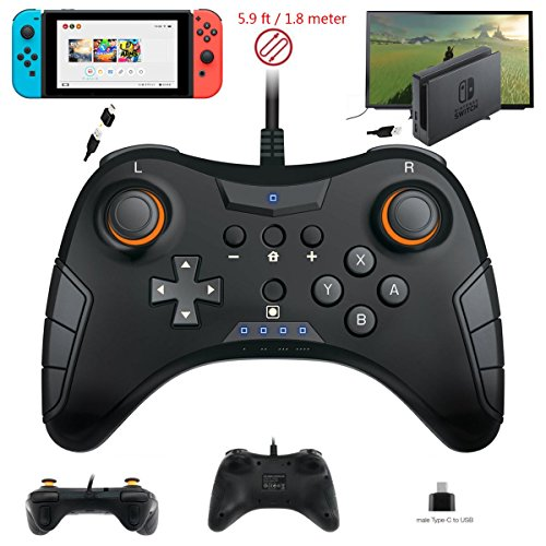 Whiteoak Switch Pro Controller, USB Wired Gaming Gamepad Joystick for Nintendo Switch, Steam, PC(Windows XP/7/8/10), PS3, Android by WHITEOAK