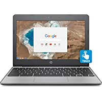 HP Chromebook 11.6 HD Touch Screen with IPS, Celeron N3060 @ 1.6GHz, 4GB RAM, 16GB eMMC, Gray (Certified Refurbished)