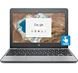 HP Chromebook 11.6' HD Touch Screen with IPS, Celeron N3060 @ 1.6GHz, 4GB RAM, 16GB eMMC, Gray (Certified Refurbished)
