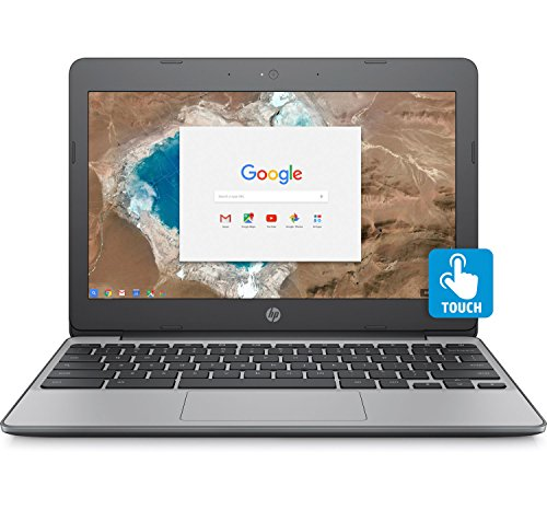 (HP Chromebook 11.6in HD Touch Screen with IPS, Celeron N3060 @ 1.6GHz, 4GB RAM, 16GB eMMC, Gray (Renewed))