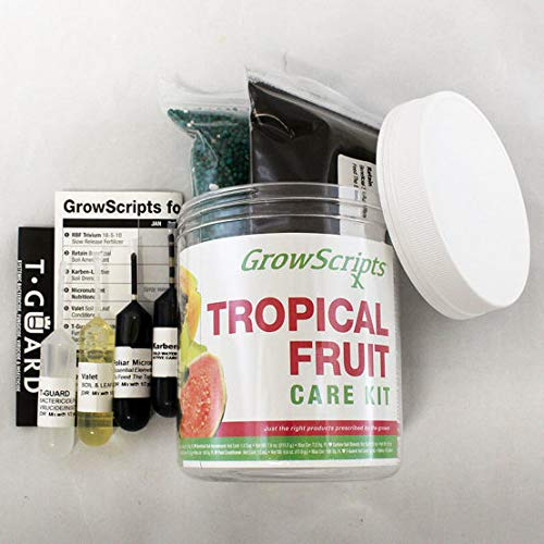 GrowScripts: 6 Product  Tropical Fruits Plant Food & Monthly Care Program