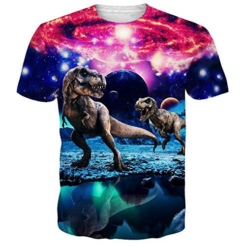 (Alistyle Mens Cool 3D Print Tshirts Short Sleeve Crewneck Graphic Tee Shirts Tops)