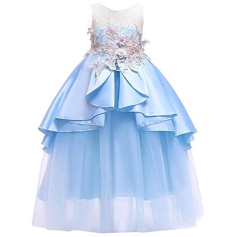 TIFIY Blumensmädchenkleid Prinzessin Bridesmaid Pageant Gown Hochzeitskleid Elegant Langes Abendkleid Kommunikation Sommer Ka
