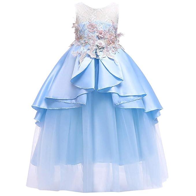 702e80f048f2 Amazon.com  ❤ Mealeaf ❤   Girl Ball Gown Gauze Sleeveless ...