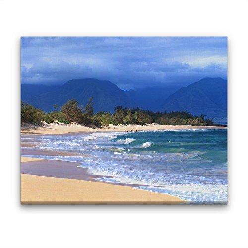 Hawaiian Beach Seascape, 11x14 inch Canvas by Maui J & M Photography