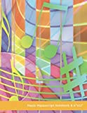 """Music Manuscript Notebook 8.5""""x11"""": Colorful Kids Cover 