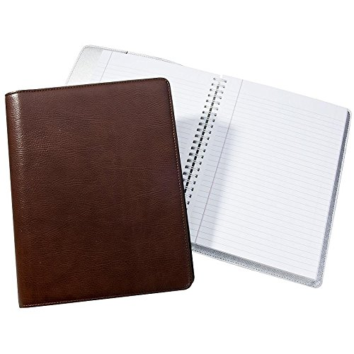 Wire-O-Notebook 9-inch Brown Eco-Leather by Graphic Image™ - 7x9 by Graphic Image