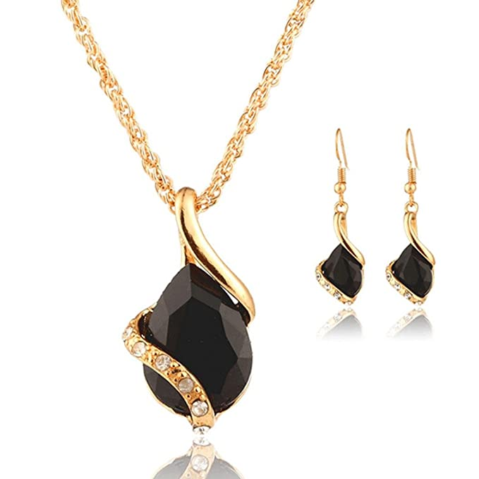 Bohemia Chain Necklace Earring...