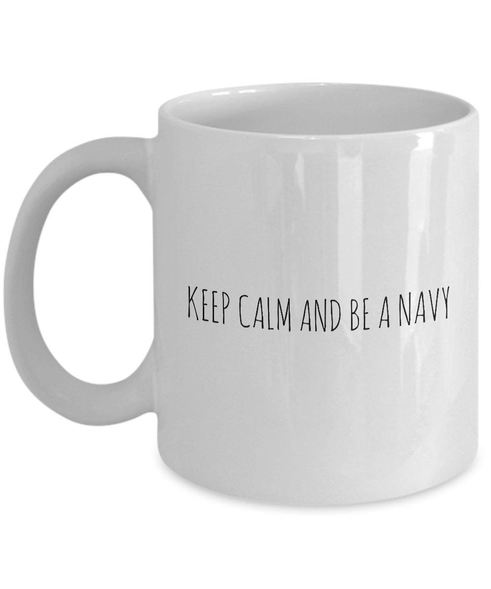 面白いコーヒーマグカップfor any Navy 。
