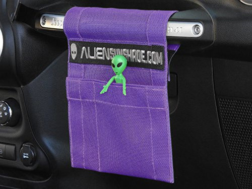 ALIEN SUNSHADE Jeep Wrangler TrailPouch Multi-Purpose Mesh Storage Pouch Organizer with 10 Year Warranty (Royal Purple)