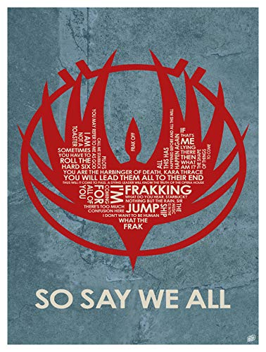 So Say We All Word Art Print Poster (9
