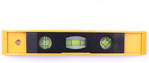 Guilty Gadgets 9 Magnetic Edge Spirit Level 230mm Torpedo Small Brick Line Ruler Bubble Level High Accuracy Leveling Precision Measuring Lightweight DIY Builder Tool