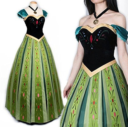 Mordarli Women's Frozen Princess Anna Dress Cosplay Costume