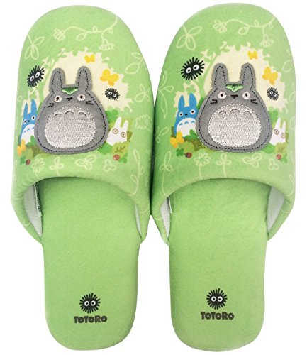 Senko Slipper House Shoes My Neighbor Totoro Sunbeams leaves Size:24 (US 6.5) Green from JAPAN