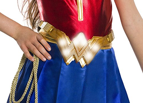 Gold Costume Belt (Rubie's Costume Girls Justice League Wonder Light-Up Belt Costume, One Size)