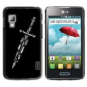 Be Good Phone Accessory // Dura Cáscara cubierta Protectora Caso Carcasa Funda de Protección para LG Optimus L5 II Dual E455 E460 // Design Master Sword